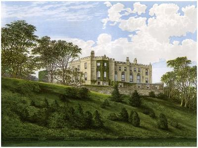 Workington Hall, Cumberland, Home of the Curwen Family, C1880