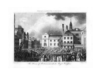 The House of Parliament, with the Royal Procession, London, 1804