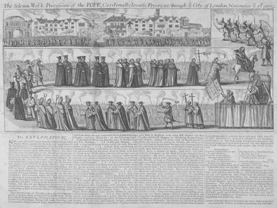 Roman Catholic Procession, City of London, 1679