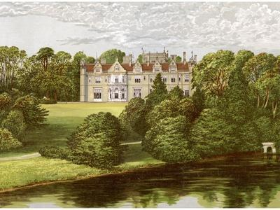 Keele Hall, Staffordshire, Home of the Sneyd Family, C1880