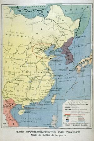 Map of the Theatre of the War in China, 1900