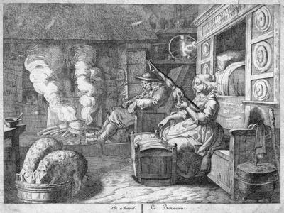 Peasant Cottage Interior, Possibly Netherlands or Northern France, 17th Century
