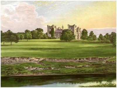 Lumley Castle, County Durham, Home of the Earl of Scarbrough, C1880