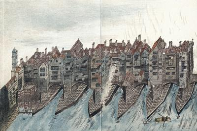 Part of Old London Bridge, C1600