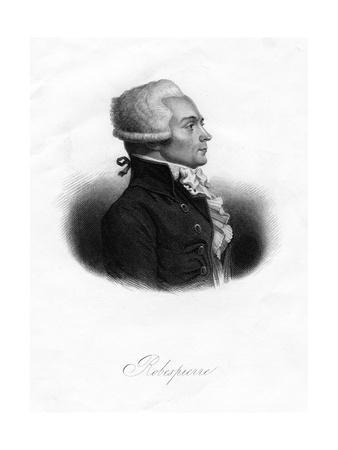 Maximilien Robespierre, One of the Leaders of the French Revolution, 1845