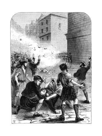 Soldiers Firing on Rioters During the Insurrection at Glasgow, 1706