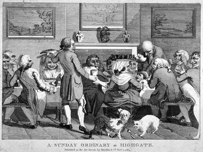 A Sunday Ordinary at Highgate, 1784