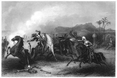 Encounter Between Lieutenant Hills and a Body of Sepoy Cavalry, 1857
