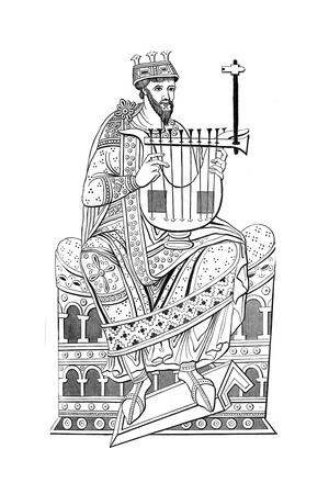 David Playing the Lyre, 10th Century