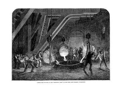 Casting the Cylinder of the 'Britannia Press' at the Bank Quay Foundry, Warrington, 1851