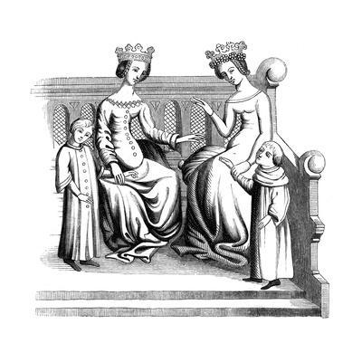 Noble Women and Children, 14th Century
