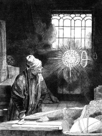 Dr Faustus in His Study