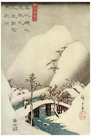 A Mountain Stream in Snow, 19th Century
