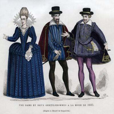 A Lady and Two Gentlemen in French Dress of 1605 (1882-188)
