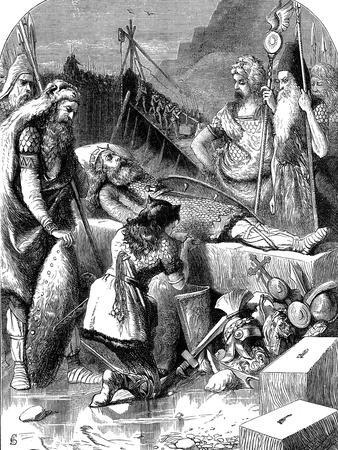 Death of Alaric I, King of the Visigoths at Cosenza, Italy, 410