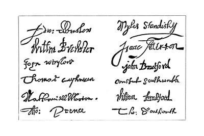 Signatures of the Pilgrim Fathers, 1620S