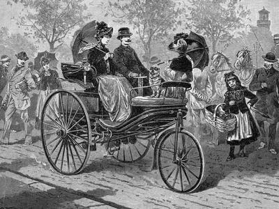 Petrol-Driven Car by Benz and Co., Capable of 16 KM Per Hour, C1890S
