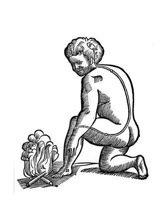 Involuntary Movement, Descartes' Idea of How Impulses from the Limbs Reach the Brain, 1692