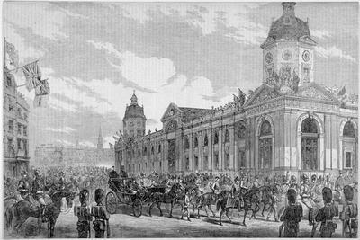 Royal Procession Passing Smithfield Market, City of London, 6th November 1869