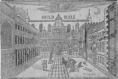 Front View of the Guildhall, Looking North, City of London, 1750