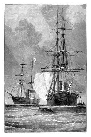 The 'San Jacinto, Stopping the 'Trent, 1861