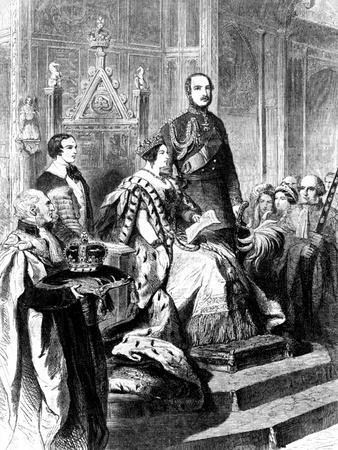 The Opening of Parliament by Queen Victoria, 1856