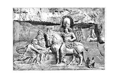 Valerian at the Feet of Sapor, Royal Tombs at Naksh-I-Rustem, Persepolis, Iran, 1895