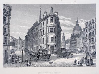 Queen Victoria Street, London, C1883