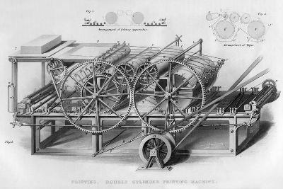 Double Cylinder Printing Machine, 1866