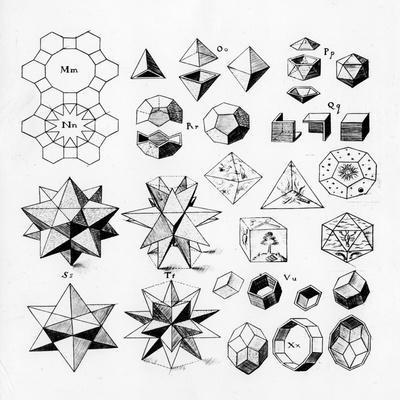 Regular Geometrical Solids of Various Types, 1619