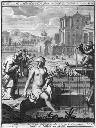 David Sees the Naked Bathsheba from the Roof of His Palace
