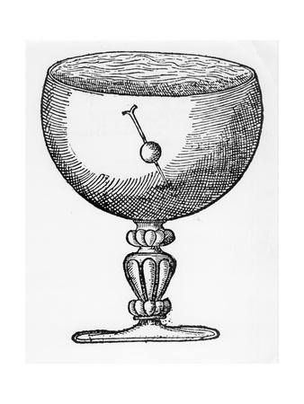 A Magnetized Needle Pushed Through a Ball of Cork, Floating Submerged in a Goblet of Water, 1600