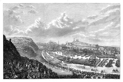 Volunteer Review in the Queen's Park, Edinburgh, Scotland, 1860