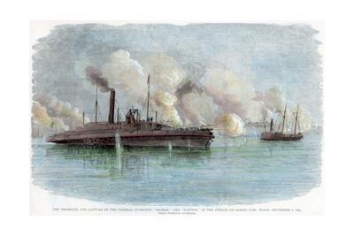 The Attack on Sabine Pass, Texas, American Civil War, 8 September 1863