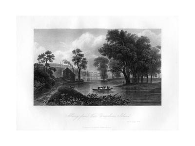 Albany from Van-Unsselaens Island, New York State, 1855