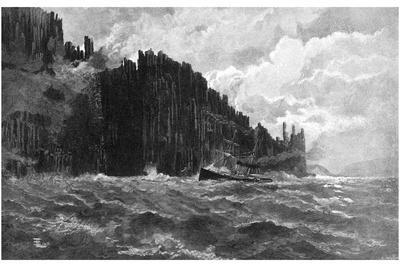 Cape Raoul, Tasmania, Australia, 1886
