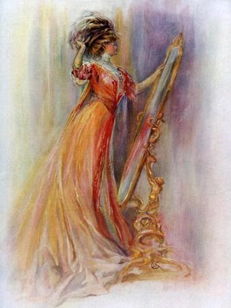 Woman Admiring Herself in a Mirror, 1908-1909