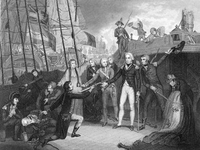 Surrender of the Spanish Ship 'San Josef' after the Battle of Cape St Vincent, 1797