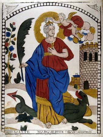 St Margaret or Marina of Antioch, Early 4th Century Virgin Christian Martyr, 19th Century