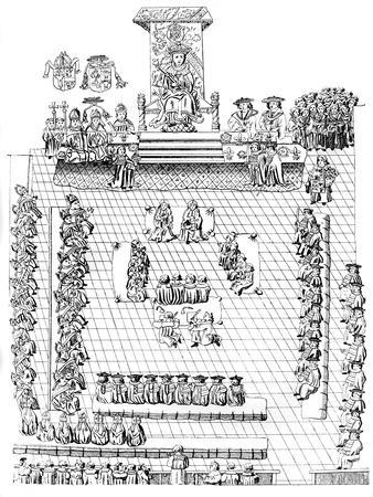The House of Peers, with Henry VIII on the Throne, 16th Century