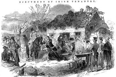 Evicted Irish Peasant Family, 1848