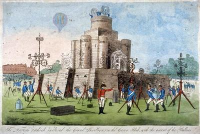 Fortress in Green Park, Westminster, London, 1814