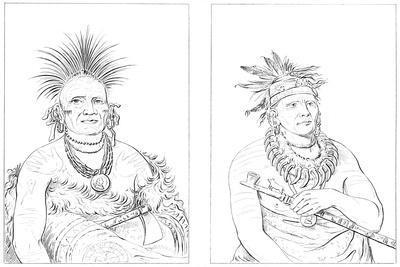 Grand Pawnees, Fort Leavenworth, Lower Missouri, 1841
