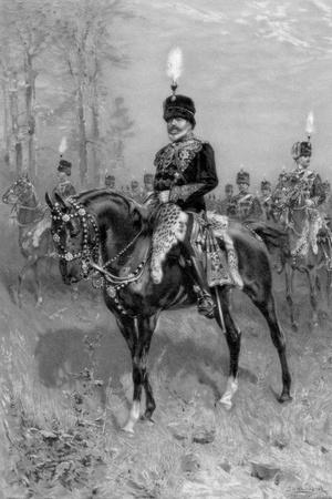 Edward VII as Colonel in Chief of the 10th Hussars, 1902