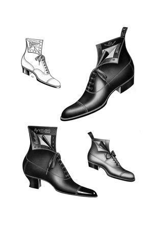 Boot Illustrations, 1908-1909