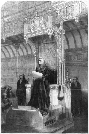 John Evelyn Denison, Speaker of the House of Commons, 1857