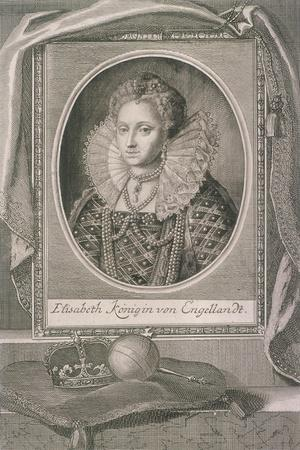 Queen Elizabeth I with Crown and Orb on a Cushion, C1800