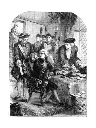Arrest of Sir William Wyndham, C1715
