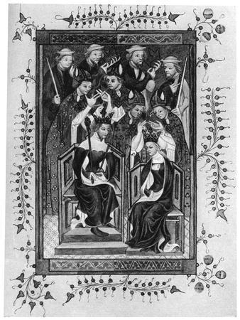 The Crowning of a King and Queen, Late 14th Century