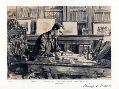 Lord Randolph Churchill (1849-189), English Statesman, 1885